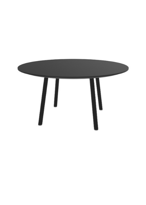 """Exchange Table with Round Black - 36""""w"""