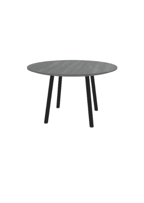 """Exchange Table with Round Slate Wood - 30""""w"""