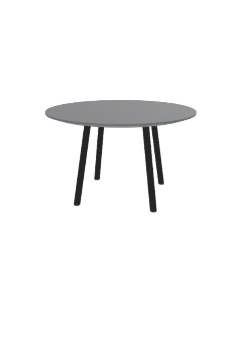 """Exchange Table with Round Clay - 30""""w"""