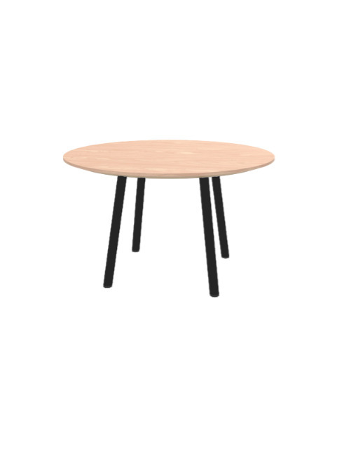 """Exchange Table with Round Light Wood - 30""""w"""