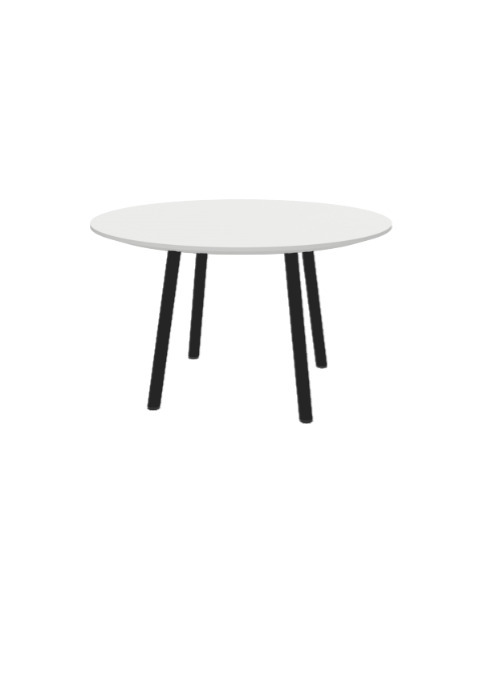 """Exchange Table with Round White - 30""""w"""