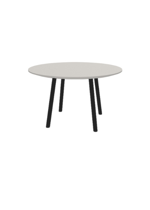 """Exchange Table with Round Natural - 30""""w"""