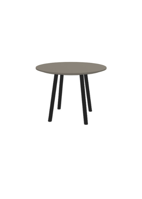 """Exchange Table with Round Taupe - 24""""w"""