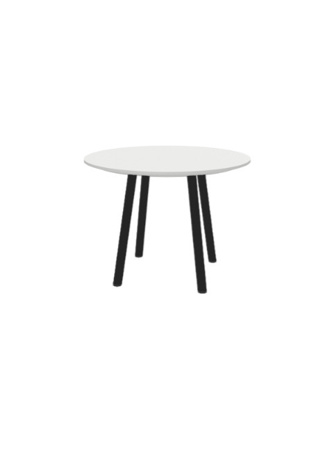 """Exchange Table with Round White - 24""""w"""