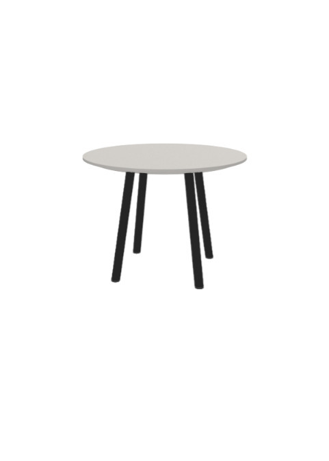 """Exchange Table with Round Natural - 24""""w"""