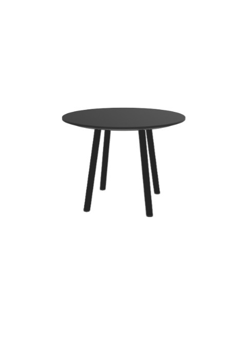 """Exchange Table with Round Black - 24""""w"""