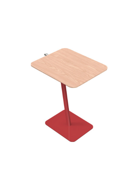 Exchange Laptop Table with Light Wood Top