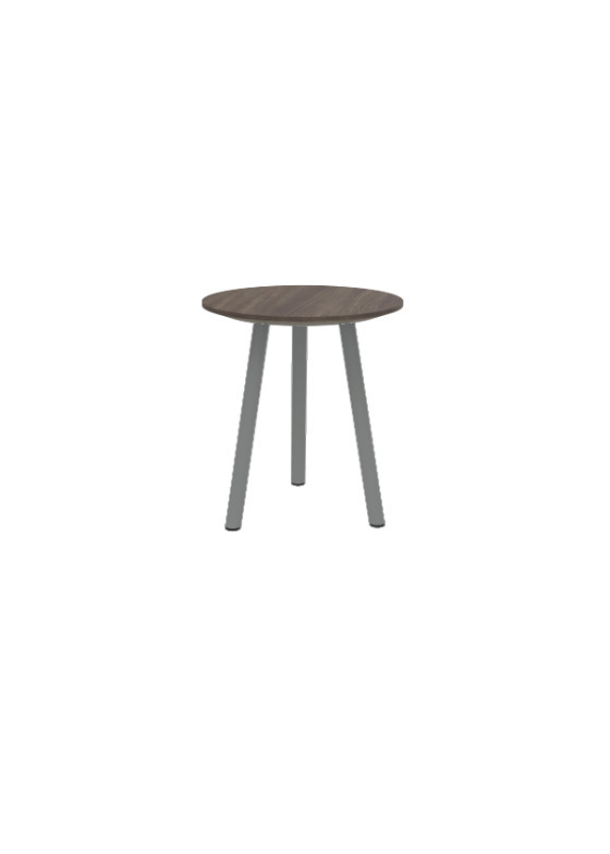 """Exchange Cocktail Table with Dark Wood - 16""""W"""