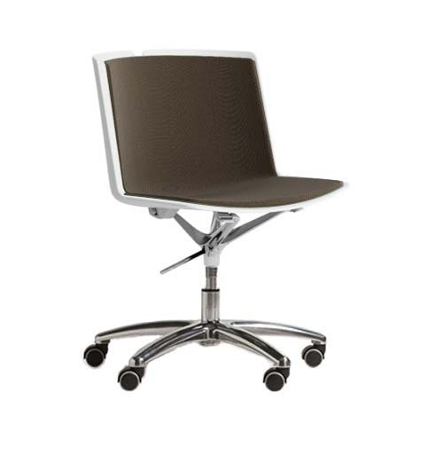 Clark Swivel Base With Casters, Upholstered