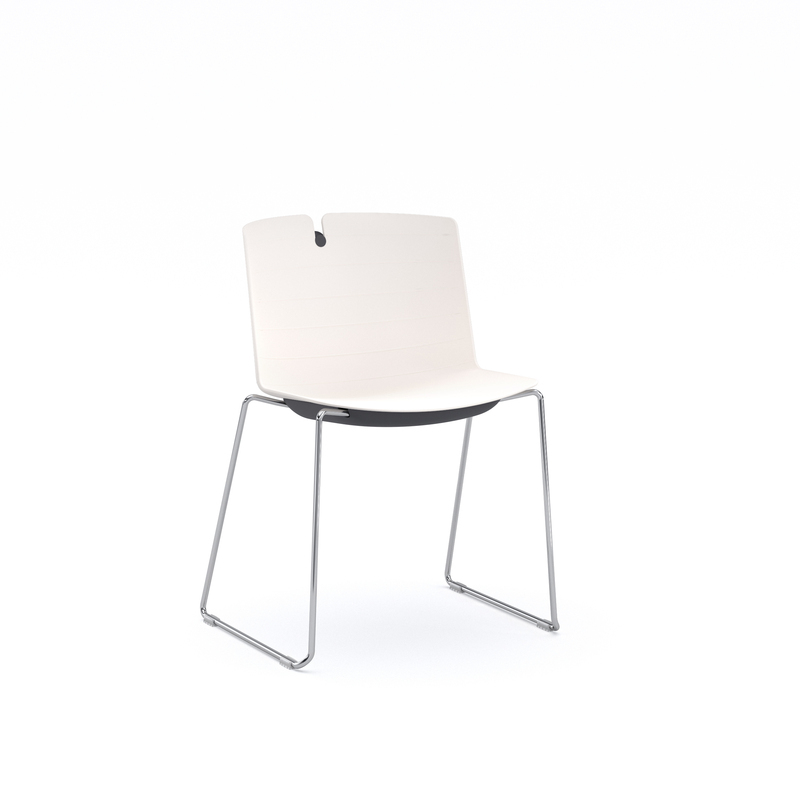 Clark Chair With Sled Base, All Plastic Body