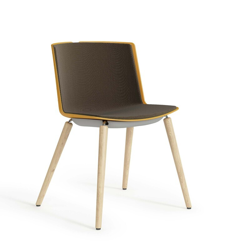 Clark Chair, Upholstered With Wood Legs