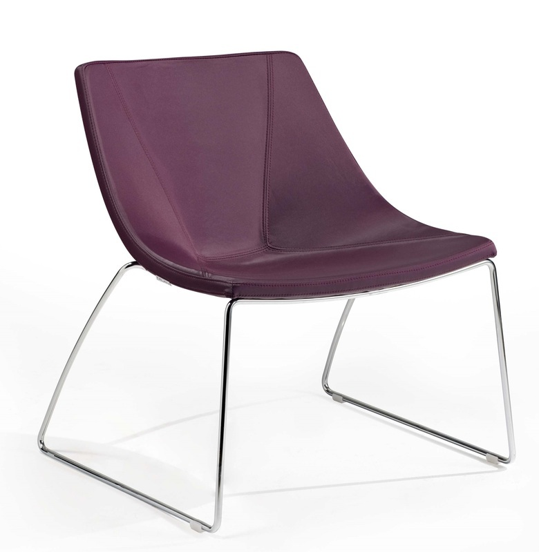 Ellipse Lounge Chair With Cantilever Base