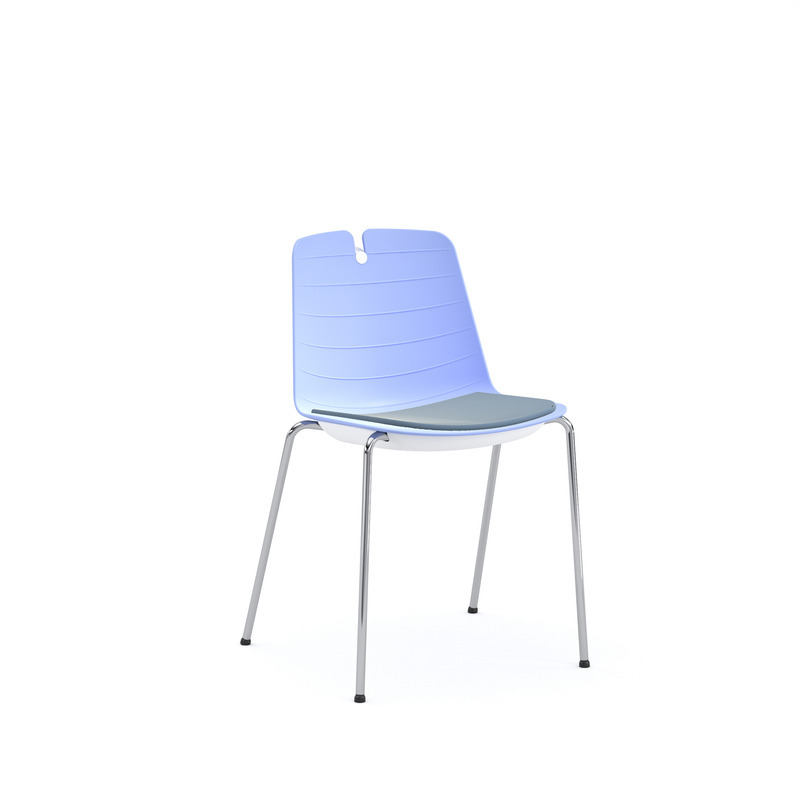 Lois Chair, 4-Leg, Body With Padded Seat