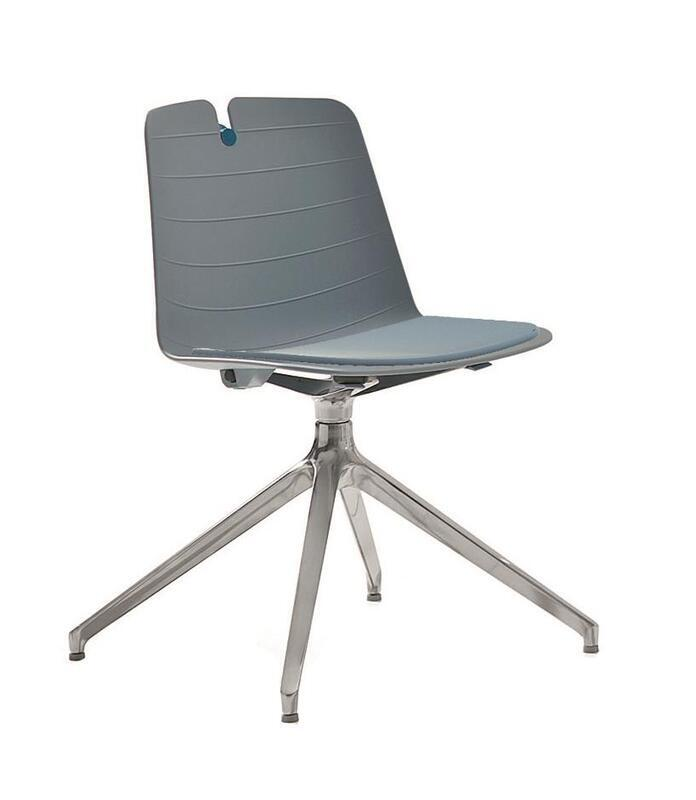Lois Chair, Swivel, Body With Padded Seat