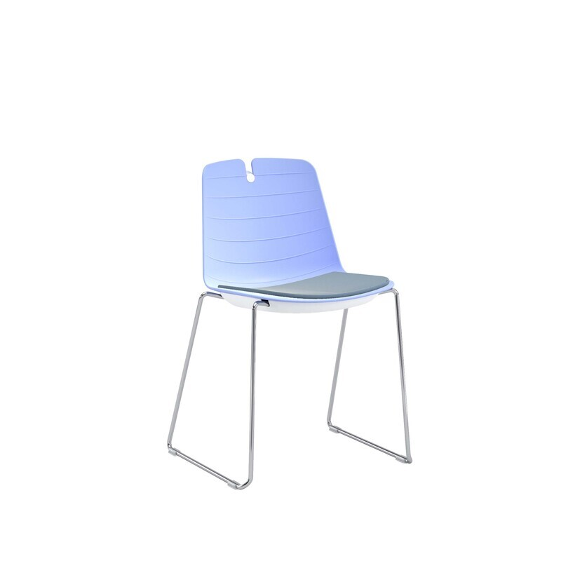 Lois Chair, Sled Base, Body With Padded Seat