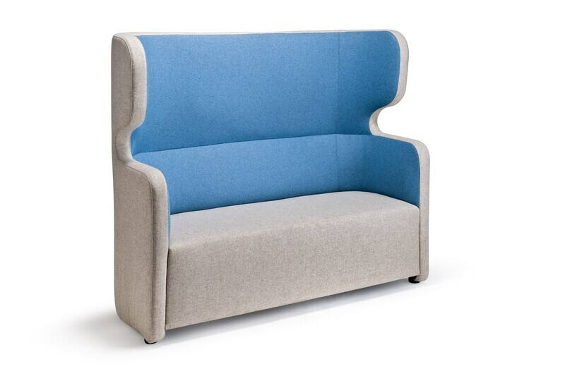 People 2-Seater High Back Sofa