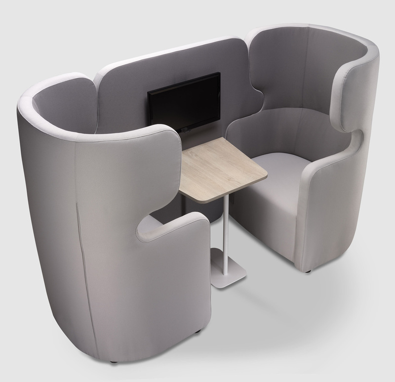 People 2-Seater Privacy Composition With Table
