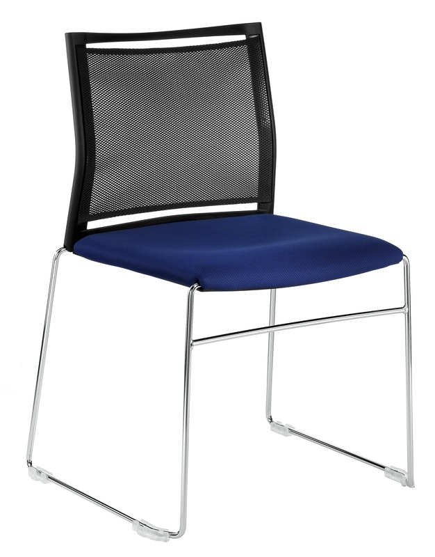 Wendy Chair, Sled Base, Mesh Back With Padded Seat