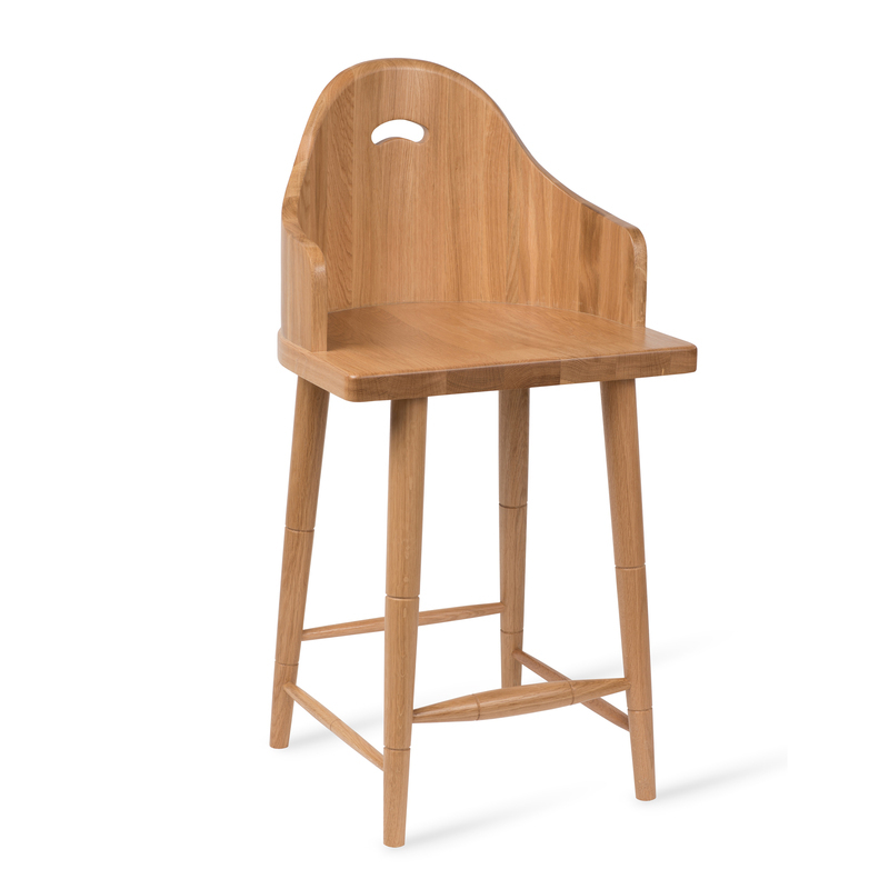 Scooped Back Counter Stool