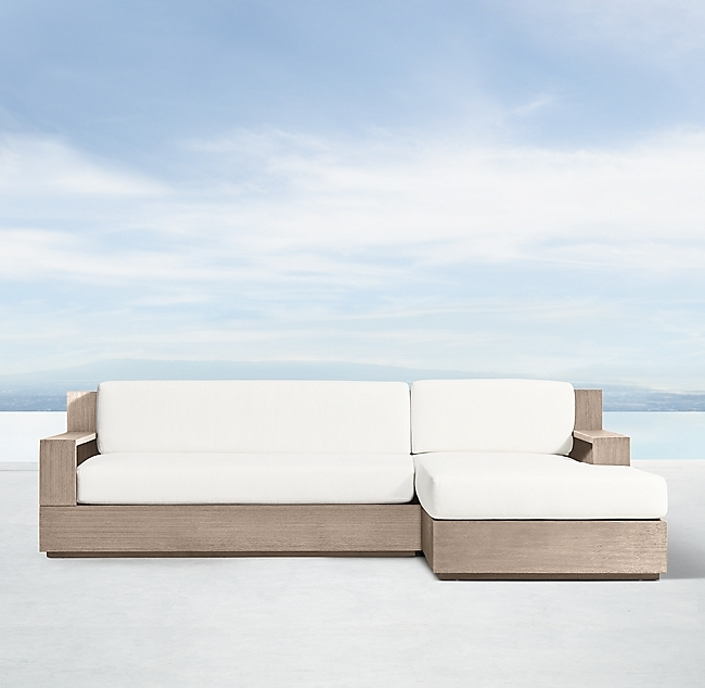 Marbella Weathered Teak Classic Right-Arm L-Sectional