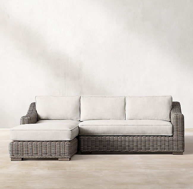 Provence Stone Classic Left-Arm Sofa Chaise Sectional