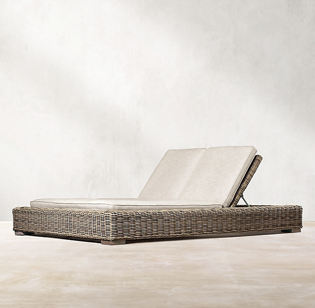 Provence Grey Double Chaise