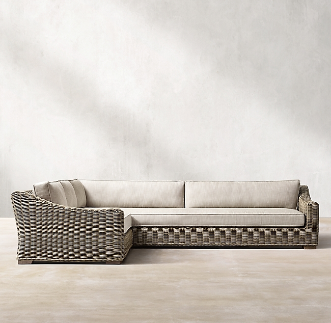 Provence Grey Classic Left-Arm L-Sectional