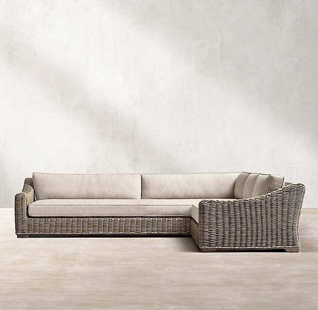 Provence Grey Classic Right-Arm L-Sectional
