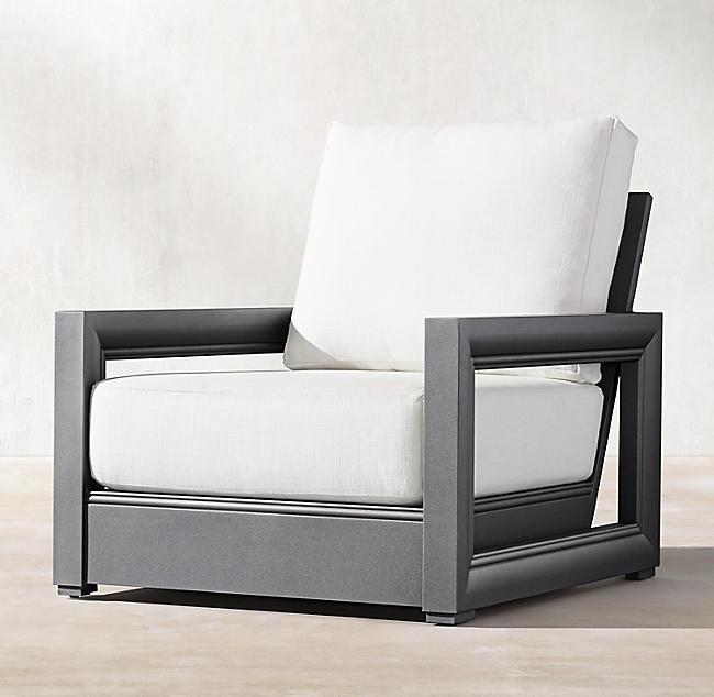 Costa Slate Aluminum Luxe Lounge Chair