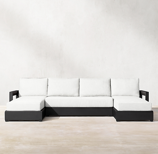 Costa Iron Aluminum Luxe U-Chaise Sectional