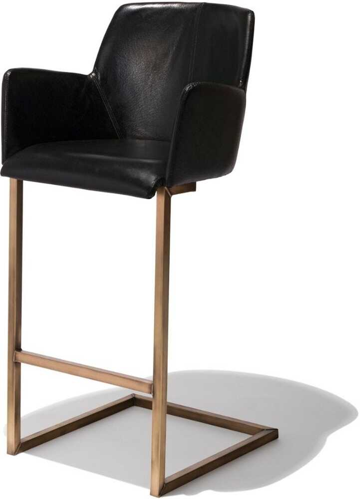 Clive Bar Stool - Black Leather