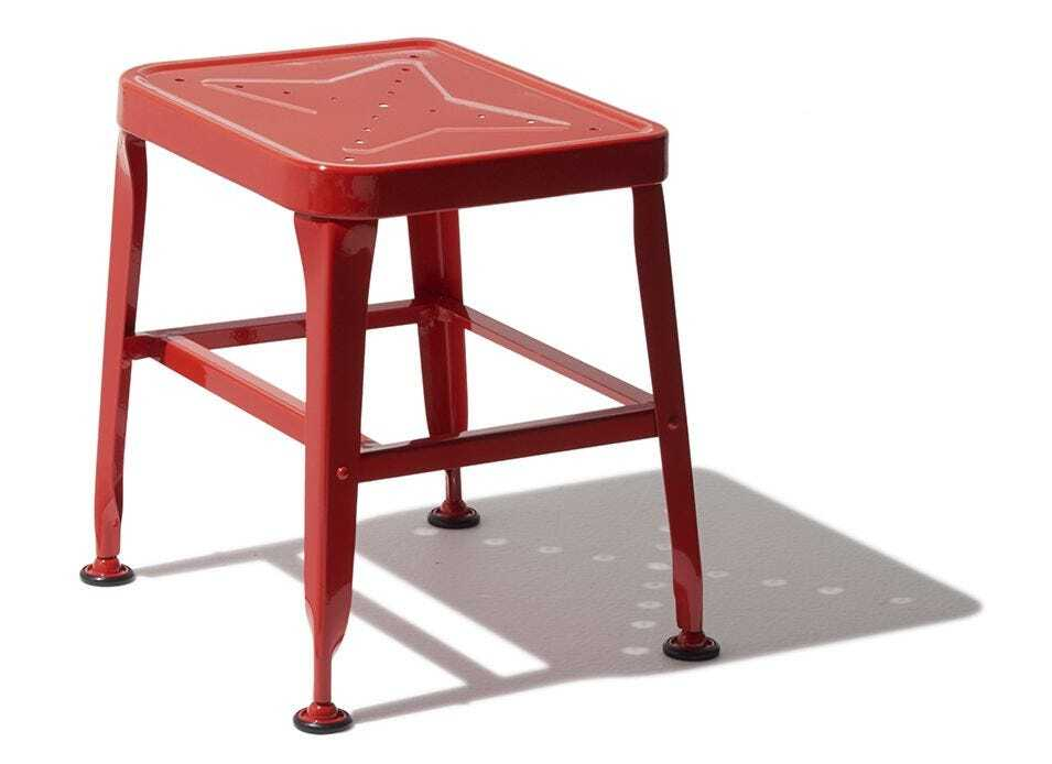 Carbon Table Stool - Red