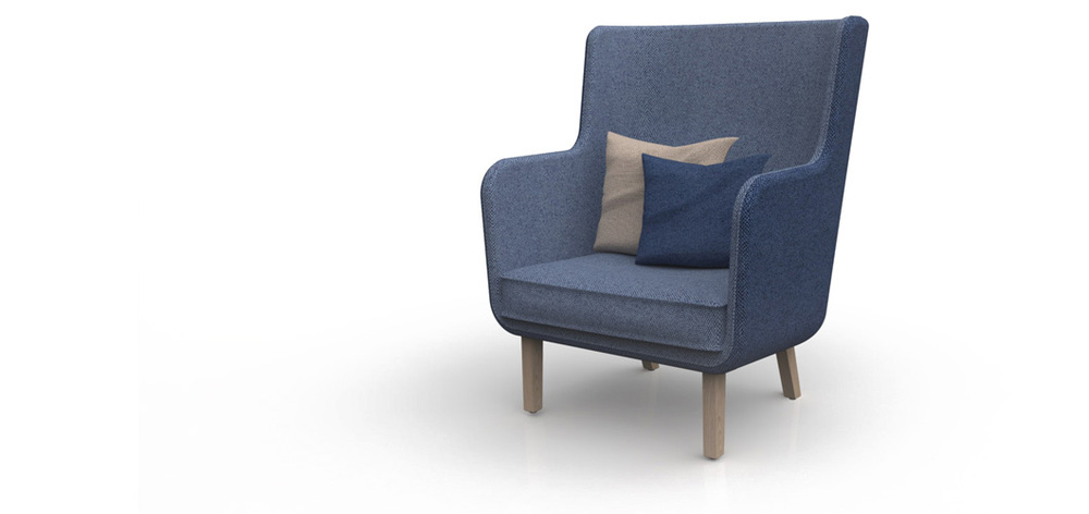 Rockwell Unscripted High Back Lounge Chair