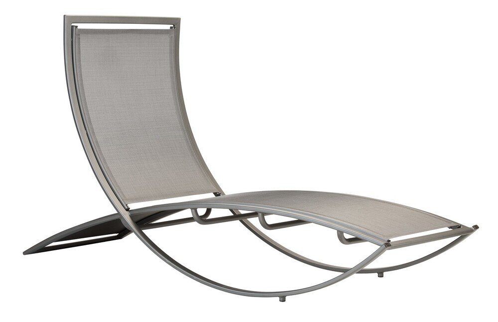 Augusta Sling Stacking X Base Chaise Lounge