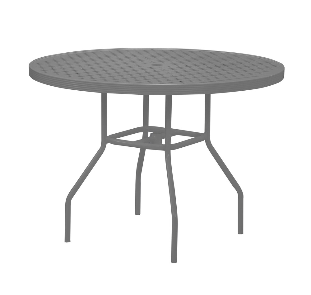 """48"""" Round Top Aluminum Dining Table"""