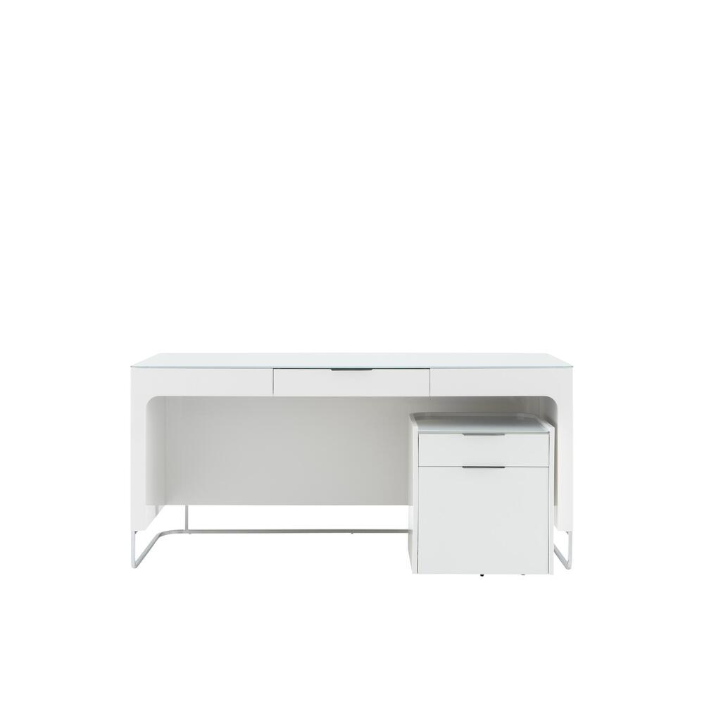HYANNIS PORT FILING CABINET FOR HANGING FILES - 2 DRAWERS GLOSS WHITE LACQUER