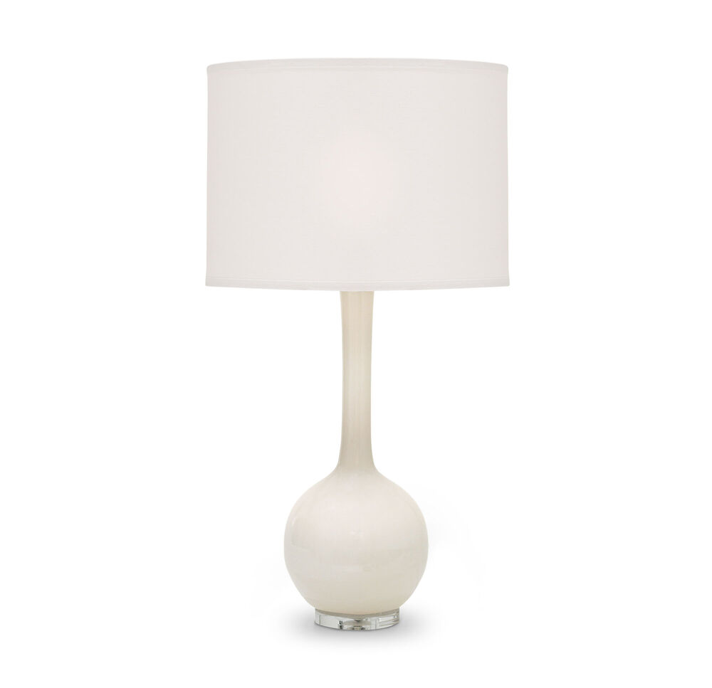 ROSEY CREAMY GLASS TABLE LAMP
