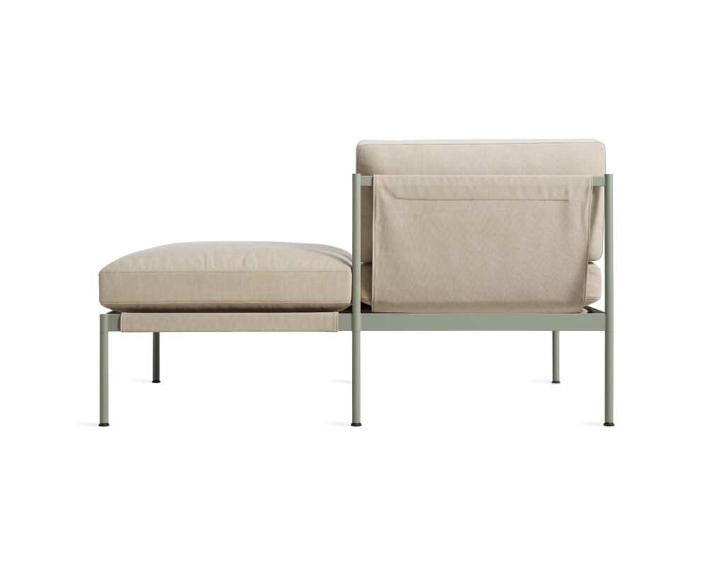 """Chassis 59"""" Right/Left Small Sofa with Cushion"""