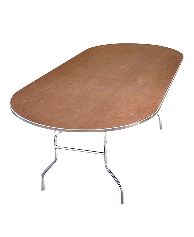 Racetrack Plywood Table
