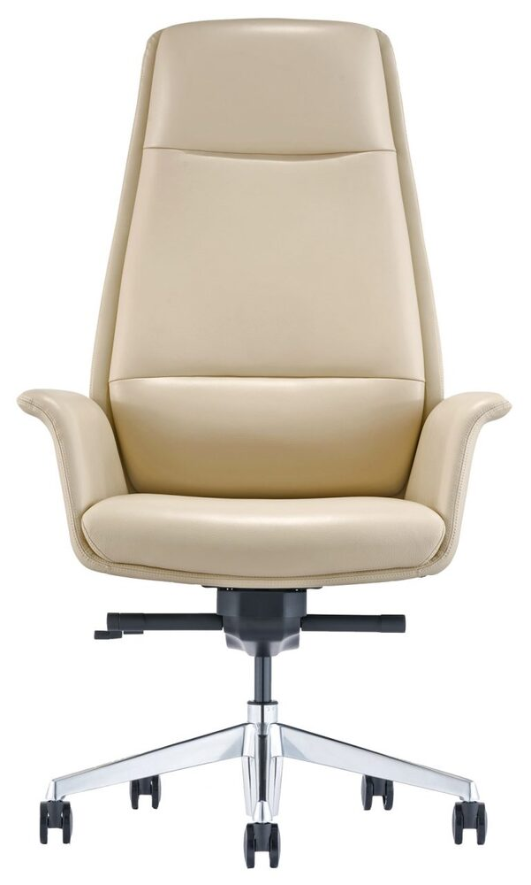 Leather On Demand Highback Almond Leather Office Chair - MODEL LOD88 AL