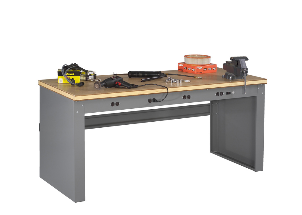 Electronic Workbench With Compressed Top And Panel Legs - EB-1-3072C