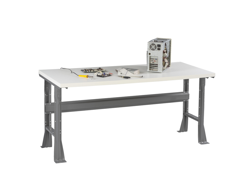 Flared Leg Workbench with Plastic Top - WB-1-3060P