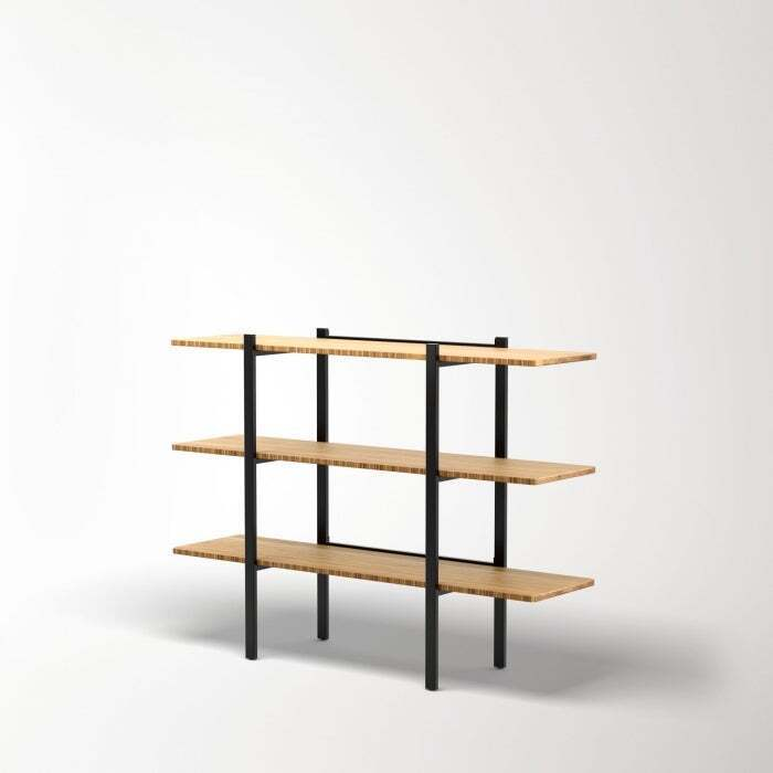 Colbe Bamboo Shelving Unit - Low