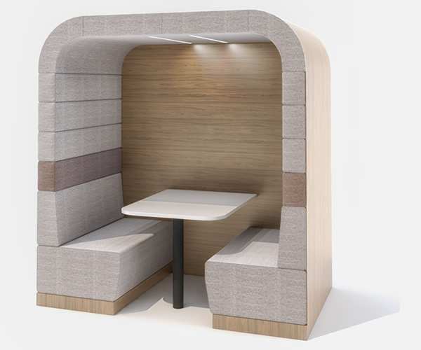 Soft Office Social Booth Carousel Image