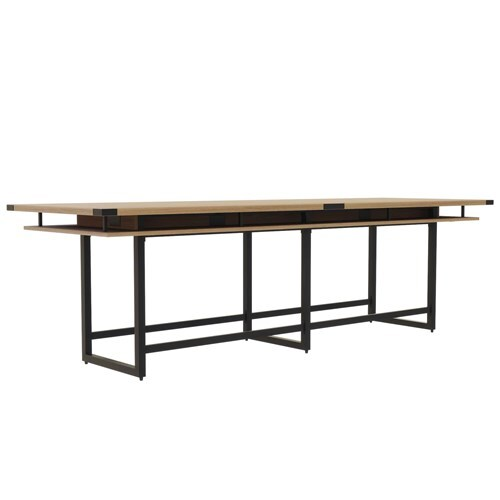 Mirella Conference Table, Standing-Height, 12'