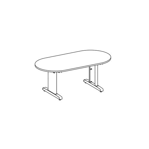"""CSII  Racetrack Conference Table, 120"""" W - R124V"""