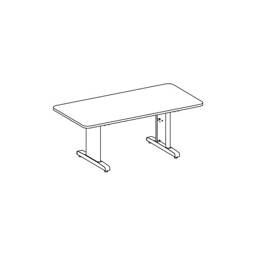 """CSII Rectangular Conference Table, 120"""" W - R124R"""