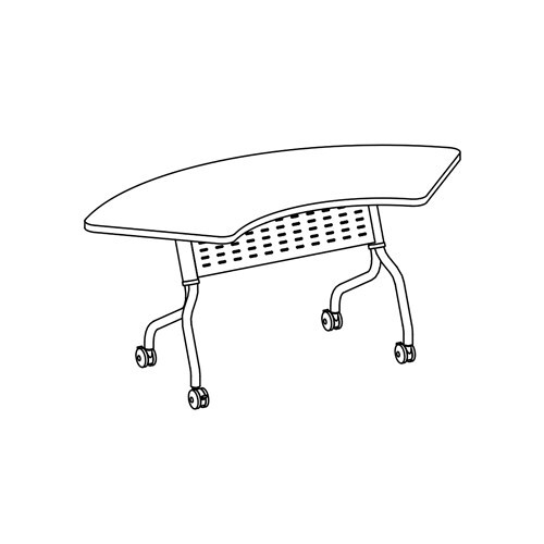 """Sync Crescent Table, 67"""" W"""