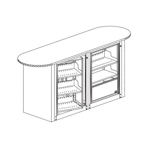 ARC Rotary - 3-Tier, Letter Size, Work Center Unit