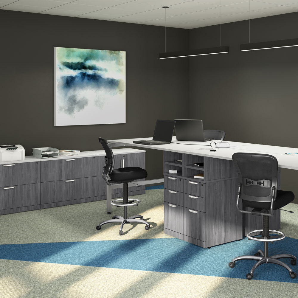 OfficeSource OS Laminate Collection Storage Cabinet Carousel Image